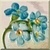 Vintage Forget-Me-Nots Icon by Yesterdays-Paper