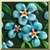 Vintage Forget-Me-Not Icon by Yesterdays-Paper