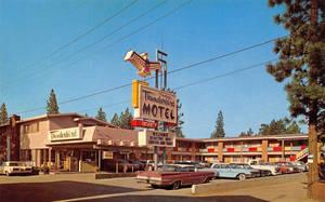 Vintage Motels - Tahoe Thunderbird, Lake Tahoe CA by Yesterdays-Paper