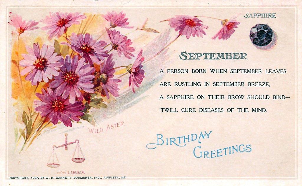 September Birthday Greetings