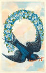 Lucky Blue Birdmail