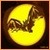 Vintage Pumpkin Carving Icon - Vampire Bat by Yesterdays-Paper