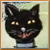 Vintage Halloween Cat Icon by Yesterdays-Paper