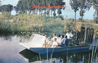 Vintage Florida - Everglades Airboat by Yesterdays-Paper