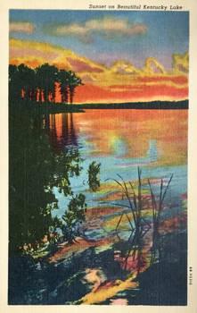 Vintage Kentucky - Sunset on Kentucky Lake