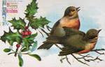 Vintage Christmas - Happy Treetop Carollers