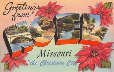 Large Letter Postcard - Noel, Missouri