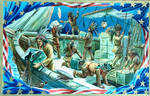 Vintage New England - The Boston ' Tea Party ' by Yesterdays-Paper