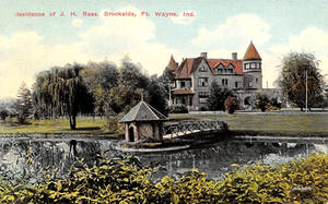 Vintage Indiana - Brookside, J.H. Bass Mansion by Yesterdays-Paper