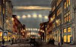 Night Scene Postcards - E. King St., Lancaster PA