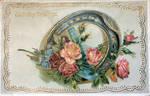 Many Happy Returns Horseshoe and Roses