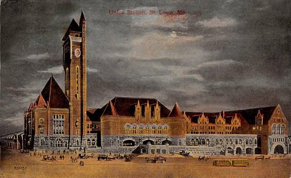Night Scene Postcards - Union Station, St. Louis