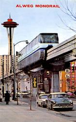 Vintage Seattle - Alweg Seattle Center Monorail by Yesterdays-Paper