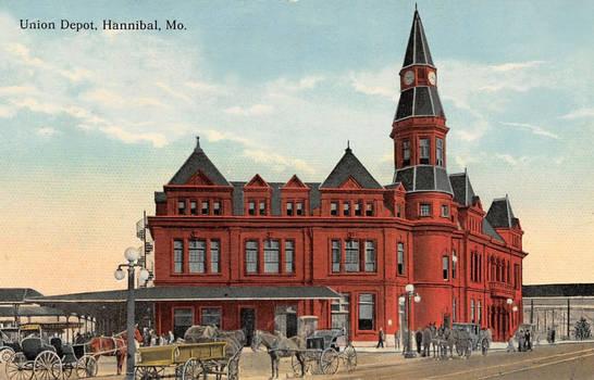Vintage Missouri - Union Depot, Hannibal