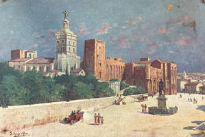 Vintage France - Papal Palace, Avignon by Yesterdays-Paper