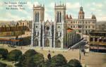 Vintage Texas - Cathedral + City Hall, San Antonio