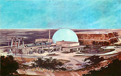 Vintage California - San Onofre Power Plant by Yesterdays-Paper