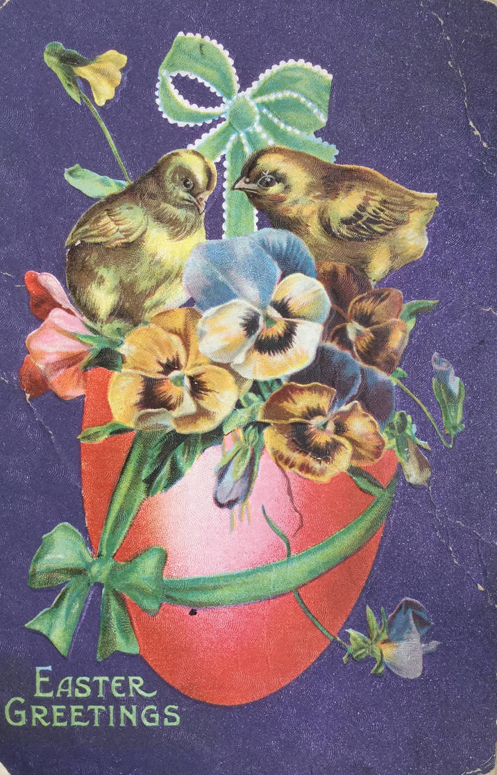 Peeps and Pansies by Yesterdays-Paper
