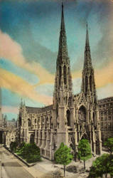 Vintage New York - St. Patrick's Cathedral, NYC