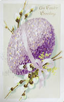 Lovely Lilac Egg With Pussywillow by Yesterdays-Paper