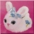 Fluffy Bunny Icon - Blue