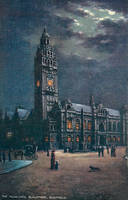 Night Scene Postcards - Sheffield Town Hall by Yesterdays-Paper