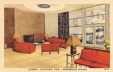 Vintage Motels - Sonoma Inn, Winnemucca NV by Yesterdays-Paper
