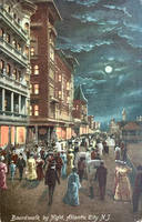 Night Scene Postcards - Moonlit Boardwalk by Yesterdays-Paper