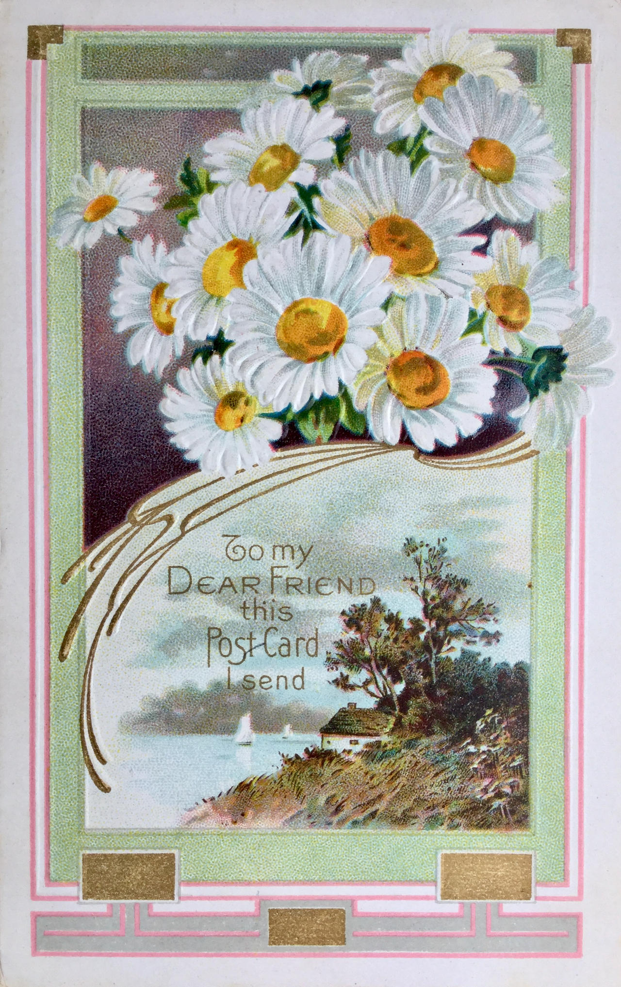 Fib About Daisies >> A Post Card To My Dear Friend By Yesterdays Paper On Deviantart