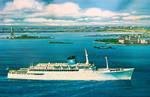 SS Amerikanis in New York Harbor