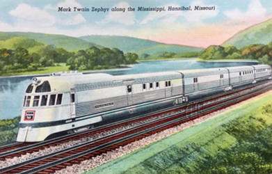 Mark Twain Zephyr Along the Mississippi