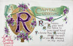 A Capital Greeting - Letter R by Yesterdays-Paper