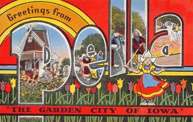 Large Letter Postcard - Pella, Iowa
