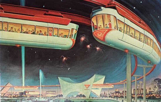 The AMF Monorail - New York World's Fair 1964-65