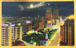 Night Scene Postcards - Downtown Newark NJ