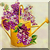 Vintage Floral Watering Can Icon