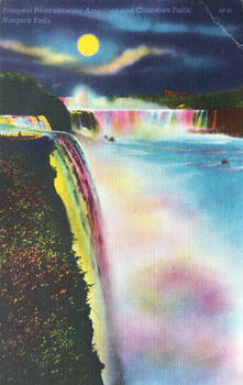 Night Scene Postcards - Prospect Point, Niagara by Yesterdays-Paper