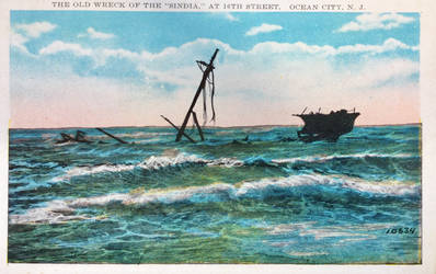 Vintage New Jersey - Wreck of The Sindia by Yesterdays-Paper