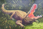 Vintage Florida - St Augustine Gator+ Ostrich Farm by Yesterdays-Paper