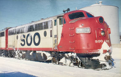 SOO Line EMD F7 Bulldog In the Snow by Yesterdays-Paper