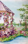 Flowerville Fantasy - Gazebo and Windmill