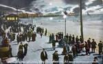 Night Scene Postcards - A Moonlit Boardwalk Roll