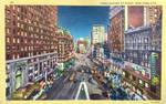 Night Scene Postcards - 'Crossroads Of The World'