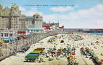 Vintage New Jersey - A Colorful Beach Scene