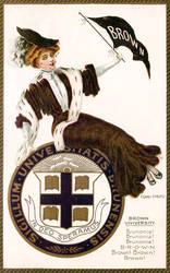 Brown University Spirit Girl
