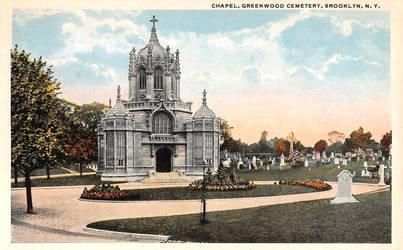 Vintage Brooklyn - Chapel, Green-Wood Cemetery by Yesterdays-Paper