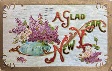 Gladsome New Year Lilacs by Yesterdays-Paper