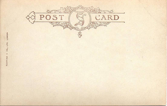 Antique Postcard Back 081 - Selfridges