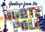 Large Letter Greetings From The North Pole