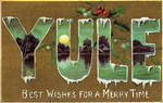 Large Letter Yule Greetings